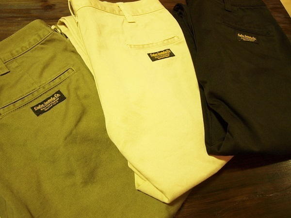CALEE キャリー WASHED WEST POINT CHINO PANTS スリムチノ.JPG