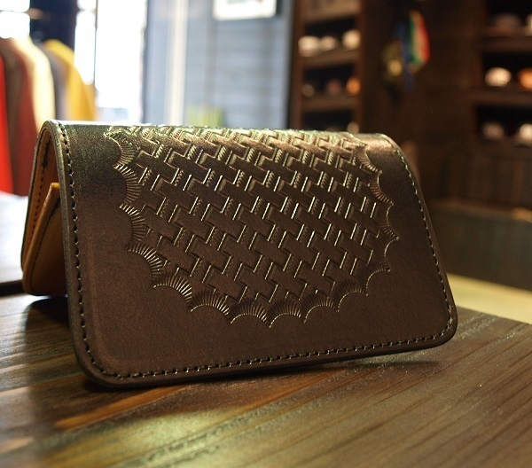 CALEE EMBOSSING LEATHER MINI WALLET 1.JPG