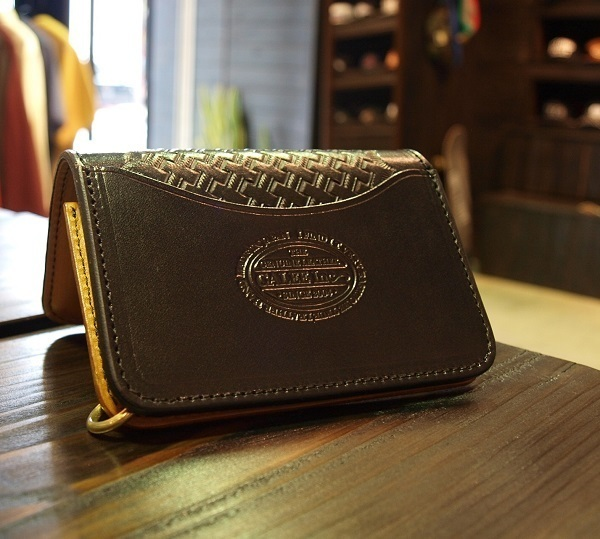 CALEE EMBOSSING LEATHER MINI WALLET 2.JPG